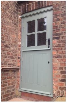 Bespoke Doors Stable Door with 4 Panes made from Oak Stable Door, Cottage, Cottage Exterior, House Doors, Cottage Windows, Cottage Door, External Doors, Farmhouse Interior, Doors