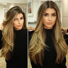Long hair with layers Layered Hair Hair Layers Long Long Layered Haircuts, Long Hair Haircuts, Haircuts For Long Hair With Layers, No Layers Haircut, Balayage Hair, Bayalage, Haircolor, Hair Day, Pretty Hairstyles