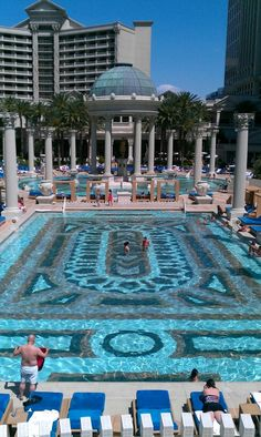 Pool at Ceasar's Palace, Las Vegas