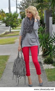 Gray animal print with pink