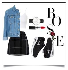 """""""❤"""" by ilsecamps ❤ liked on Polyvore featuring Topshop, Daniel Wellington, NIKE, MAC Cosmetics, women's clothing, women, female, woman, misses and juniors"""