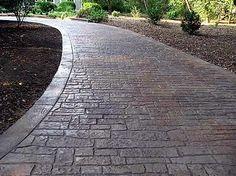 Stamped, Small Stone  Concrete Driveways  Split-Rok Construction Co  Pt Pleasant Beach, NJ