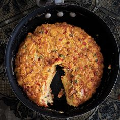 This take on Tortilla Española with crushed potato chips is super simple and darned good.