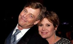Mark Hamill and Carrie Fisher.