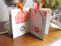 October Challenge - Mini Album from 1 Sheet of 12x12 Paper - by LMissCrafter – Jamie