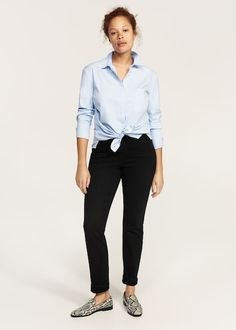 Violeta by Mango Slim-Fit Straight Theresa Jeans c00f0236705