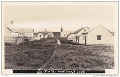 RP: Street view toward Catholic Church , FORT GOOD HOPE , NWT , Canada , 10-20s Item number: 253559238 - Delcampe.com