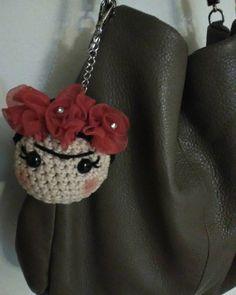 Crochet Frida Kahlo amigurumi inspired by SkyEscreationsShop