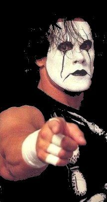 Honestly, did he rip off Brandon Lee's paint, or was he just inspired beyond comprehension? Everybody, Steve Borden a.k.a. Sting.
