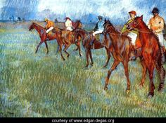 Jockeys in the Rain 1886 - Edgar Degas