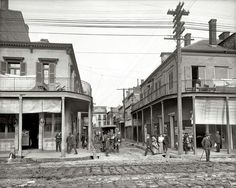 The Italian Section of New Orleans .. Madison Street in 1906