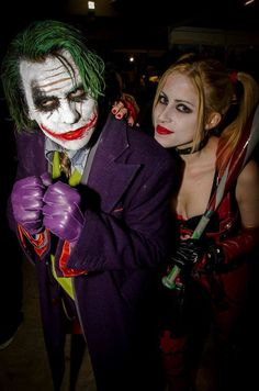 That sad moment when you realize that no one will ever love me you enough to go out in public dressed as The Joker and Harley Quinn. Couples Cosplay, Dc Cosplay, Harley Quinn Cosplay, Joker And Harley Quinn, Best Cosplay, Joker Cosplay, Cosplay Costumes, Batman Arkham City, Gotham City