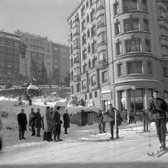 Snow in Barcelona, 1962. Catalonia