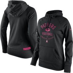 Green Bay Packers Nike Women's Breast Cancer Awareness Hoodie - Black