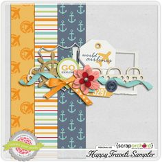 Happy Travels mini kit freebie from Tickled Pink Studio Scrapbook Blog, Scrapbook Paper, Project Life Travel, Project 365, Project Life Freebies, Digital Scrapbooking Freebies, Travel Cards, Paper Background, Traveling By Yourself