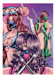 Kitana, Mileena and Jade Pencils = me Inks and colors = Mortal Kombat Ladies Mortal Kombat Art, Jade Mortal Kombat, Dragon Ball Z, Video Game Art, Video Games, Mileena, Fighting Games, Character Art, Fan Art