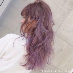 ......my works...... お客様〜 #shachu #hair #color #ヘア #ヘアカラー #グラデーションカラー #ラベンダー #アッシュ #ピンク #スタイリング #動画 #スタイリング動画 #巻きつけスタイリング #アレンジ #簡単アレンジ