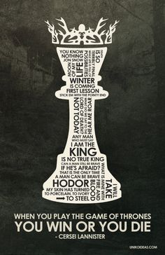 Game of Thrones Quote Poster  11 x 17 von UnikoIdeas auf Etsy, $18.00