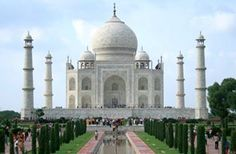 """Taj Mahal is called the """"crown of palaces"""". It was built by great emperor Shah  Johan in memory of his third wife, Mumtaz Mahal. Built on the banks of the  holy river Yamuna, it took 22 years to complete this masterpiece.   Taj Mahal is one of the 7 wonders of the world #tajmahal #wonders #world"""
