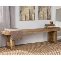 Kosas Home Handcrafted Oscar Natural Recovered Shipping Pallets Dining Bench (Natural), Brown Taupe (Pine) Bar Furniture, Pallet Furniture, Furniture Projects, Furniture Deals, Furniture Outlet, Online Furniture, Concrete Furniture, Wood Dining Bench, Dining Room Bar