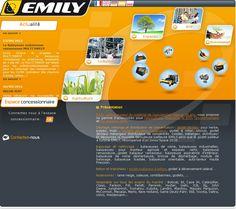 Emily : Fabricant de godet désileur, godet malaxeur, godet distributeur, balayeuse de voirie, dérouleuse pailleuse ...