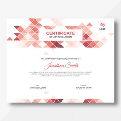 Triangles certificate template Premium Psd Triangle Template, Certificate Design Template, Certificate Of Appreciation, Triangles, Project Ideas, Aqua, Presents, Random, Cards