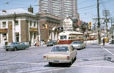 Queen King and Roncesvalles 1971 via lindsaybridge. Toronto, Reds Bbq, The Good German, Canadian History, Canadian Art, Summer Barbecue, Canada, Historical Quotes, Greatest Hits