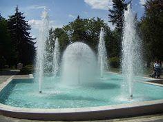 Dandelion Fountain in Ternopil, western Ukraine