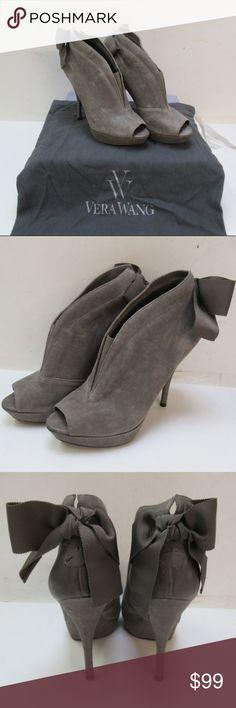 9505ef91156 Vera Wang Leather Suede Grey Royce Booties Description  Vera Wang Ladies  Granite Leather Royce Booties