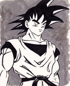 Inktober2014 Day24a Goku from DragonBall Z