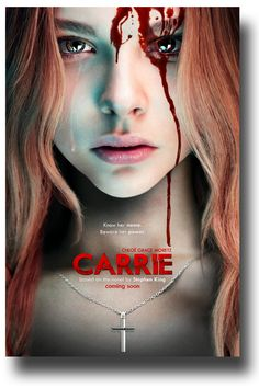Carrie.  A reimagining of the classic horror tale about Carrie White (Chloë Grace Moretz), a shy girl outcast by her peers and sheltered by her deeply religious mother (Julianne Moore), who unleashes telekinetic terror on her small town after being pushed too far at her senior prom. Based on the best-selling novel by Stephen King, Carrie is directed by Kimberly Peirce with a screenplay by Lawrence D. Cohen and Roberto Aguirre-Sacasa.