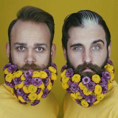 #ART - FLOWER BEARDS  #beards #photooftheday #followme #style #love #cool #follow4follow #followback