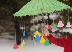 Heart Umbrella; (idea: use along with book, The Day it Rained Hearts by Felicia Bond)