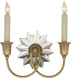 Visual Comfort Studio Huntingdon 2 Light Decorative Wall Light in Hand-Rubbed Antique Brass SP2013HAB #visualcomfort