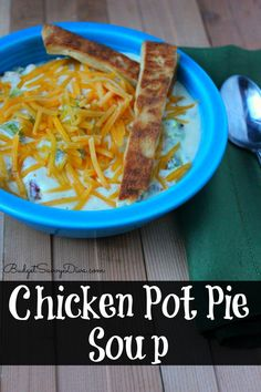 Out of this world soup!!! Perfect for fans of chicken pot pie - Chicken Pot Pie Soup Recipe