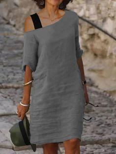 Half Sleeve Dresses, Half Sleeves, Short Sleeves, Dresses With Sleeves, Linen Dresses, Casual Dresses, Summer Dresses, Autumn Dresses, Elegant Dresses