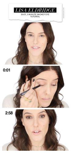 Easy, 3 Minute Smokey Eye Tutorial by Lisa Eldridge