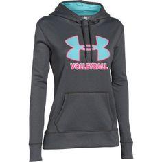 Under Armour Women's Big Logo Volleyball Hoodie - Grey