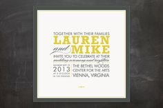 COCKTAIL HOUR Wedding Invitations by Ariel Rutland at Minted.com...liked the modern feel...but I don't think this is the direction I'm going in.