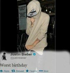 Compleanno triste per Justin Bieber