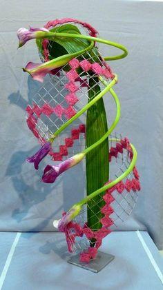 ภเгคк ค๓๏ Contemporary Flower Arrangements, Creative Flower Arrangements, Ikebana Arrangements, Floral Arrangements, Deco Floral, Arte Floral, Floral Design, Flower Frame, Flower Art