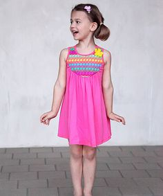 Love this Pink & Yellow Laila Dress - Toddler & Girls by Buckleberry Kids on #zulily! #zulilyfinds