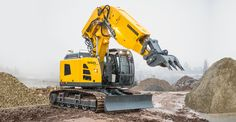 Liebherr - The new Liebherr crawler excavator R 950 Tunnel! With an operating weight of approximately 45 tonnes and up to 150kW / 204 hp (190 kW / 258 hp optional).