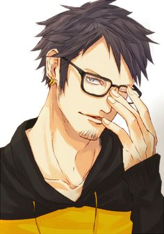 trafalgar law- not normally a sucker for an anime guy in glasses but damn