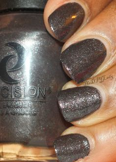 """""""And Last but not the least is my absolute favorite in this collection. It's called Scorpion King. I have a soft spot for black polishes that aren't just Black. This has some silver shimmers in it and it was opaque in one coat. But I used two for good measure."""""""