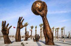 Comienza el mundial de Qatar: Escultura handbolera | Multimedia - Mundo Handball: Fotos y Videos de Balonmano