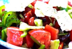 Greek salad, authentic and delicious!