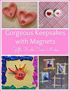 Gorgeous Keepsakes with Magnets - Gifts Kids Can Make. | Montessori Nature