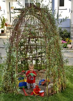 Braiding yourself with willow branches - Garten für Kinder - garten dekore