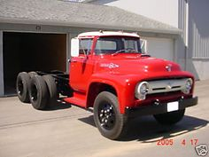 1956 Ford Truck, Ford Pickup Trucks, 4x4 Trucks, Semi Trucks, Caterpillar Equipment, Old Pickup, Ford Tractors, Heavy Truck, Classic Trucks